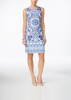 Charter Club Petite Sleeveless Medallion-Print Shift Dress, Only at Macy's
