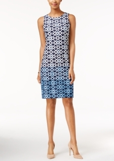 Charter Club Ombre Printed Sheath Dress, Only at Macy's