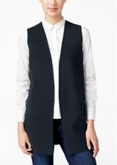 Charter Club Open-Front Sweater Vest, Only at Macy's