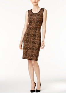 Charter Club Petite Printed Jacquard Sheath Dress, Only at Macy's