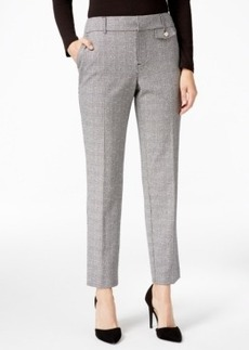 Charter Club Plaid Slim-Leg Ankle Pants, Only at Macy's