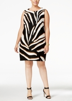 Charter Club Plus Size Animal-Print Shift Dress, Only at Macy's