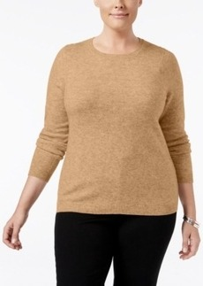 Charter Club Plus Size Cashmere Crewneck Sweater, Only at Macy's
