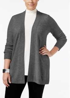 Charter Club Plus Size Cashmere Duster Cardigan, Only at Macy's