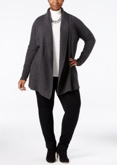 Charter Club Plus Size Cashmere Shawl-Collar Cardigan, Only at Macy's