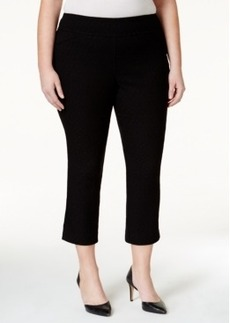 Charter Club Plus Size Diamond Jacquard-Print Capri Pants, Only at Macy's