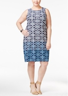 Charter Club Plus Size Geo-Print Shift Dress, Only at Macy's