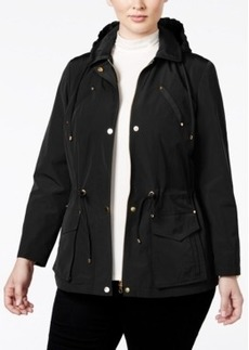 Charter Club Plus Size Hooded Anorak Jacket, Only at Macy's