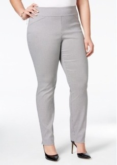 Charter Club Plus Size Houndstooth-Print Pants, Only at Macy's