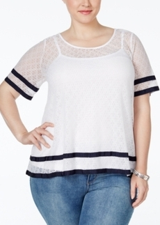 Charter Club Plus Size Lace Blouse, Only at Macy's