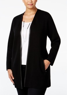 Charter Club Plus Size Milano Open-Front Cardigan, Only at Macy's