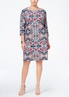 Charter Club Plus Size Paisley-Print Shift Dress, Only at Macy's