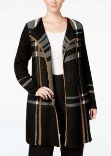 Charter Club Plus Size Plaid Duster Cardigan, Only at Macy's