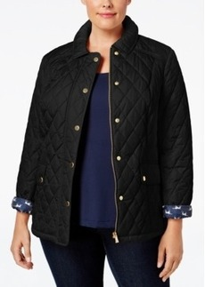 Charter Club Plus Size Quilted Puffer Coat, Only at Macy's