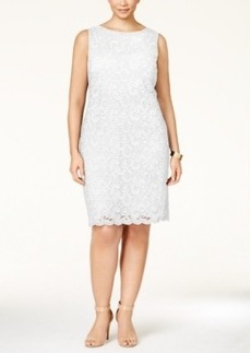 Charter Club Plus Size Textured Lace Shift Dress, Only at Macy's