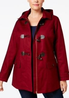 Charter Club Plus Size Toggle-Front Hooded Coat, Only at Macy's