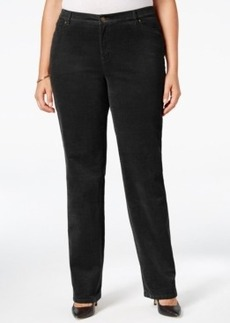 Charter Club Plus Size Tummy-Control Corduroy Pants, Only at Macy's