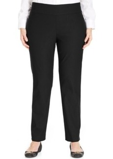 Charter Club Plus Size Cambridge Tummy-Control Pull-On Pants, Only at Macy's