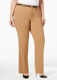 Charter Club Plus Size Tummy-Control Trousers, Only at Macy's
