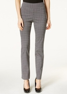 Charter Club Patterned Cambridge Slim Ankle Pants, Only at Macy's