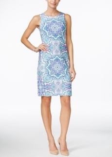 Charter Club Petite Printed Sleeveless Sheath Dress, Only at Macy's