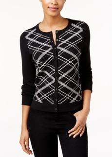 Charter Club Sequined Plaid Cardigan, Only at Macy's