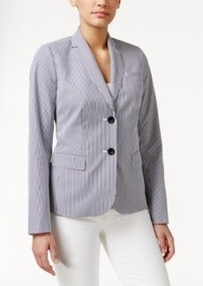 Charter Club Petite Two-Button Striped Blazer