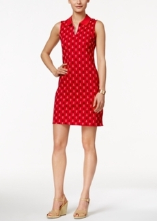 Charter Club Sleeveless Anchor-Print Polo Dress, Only at Macy's