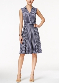 Charter Club Sleeveless Boat-Print Shirtdress, Only at Macy's