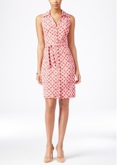 Charter Club Sleeveless Iconic-Print Shirtdress, Only at Macy's