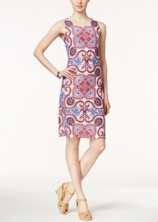 Charter Club Sleeveless Scarf-Print Dress, Only at Macy's