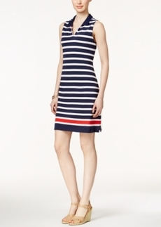 Charter Club Sleeveless Striped Polo Dress, Only at Macy's