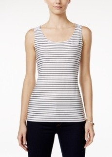 Charter Club Textured Striped Tank Top, Only at Macy's