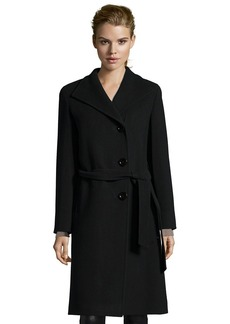 Cinzia Rocca black wool button front belted 3...