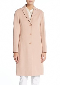 Cinzia Rocca Cotton & Wool Blend Coat
