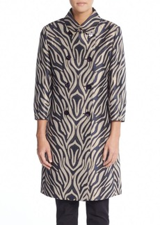 Cinzia Rocca Double-Breasted Zebra-Print Coat