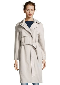 Cinzia Rocca taupe water-resistant cotton bel...