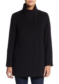 Cinzia Rocca Virgin Wool-Blend Short Car Coat