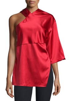 CoSTUME NATIONAL Asymmetric Woven Top