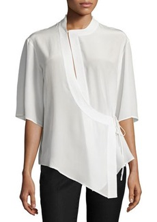 CoSTUME NATIONAL Half-Sleeve Wrap Top
