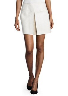 CoSTUME NATIONAL Mid-Rise Leather Skirt