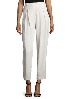 CoSTUME NATIONAL Pleated-Front Cropped Pants