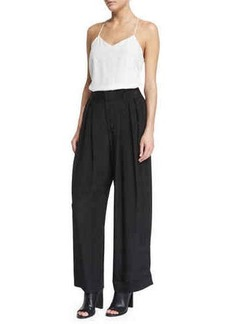 CoSTUME NATIONAL Pleated-Front Wide-Leg Trousers