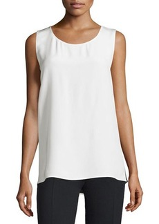 CoSTUME NATIONAL Round-Neck Two-Tone Tank