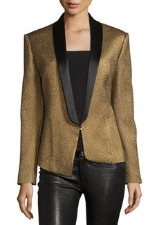 CoSTUME NATIONAL Shawl-Lapel Metallic Blazer