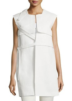 CoSTUME NATIONAL Sleeveless Belted Column Jacket