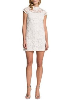 Cynthia Steffe Eisele Cap-Sleeve Embroidered Organza Dress  Eisele Cap-Sleeve Embroidered Organza Dress