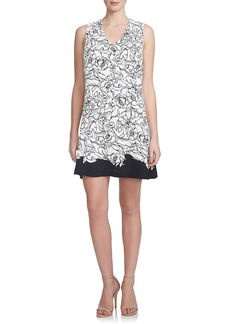 Cynthia Steffe 'Jillian' Back Overlay Crepe Shift Dress