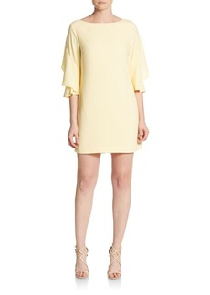 Cynthia Steffe Nicola Flutter-Sleeve Shift Dress
