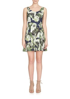 CYNTHIA STEFFE Sleeveless Garden Print Dress